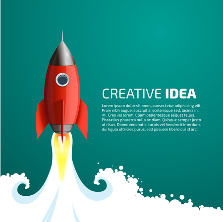 Illustration pour Rocket - creative idea concept - image libre de droit