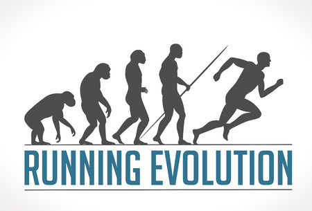 Illustration pour Logo - running evolution - image libre de droit