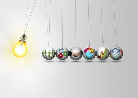 Foto de Business idea concept - work together - Imagen libre de derechos