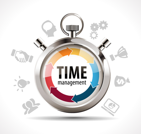 Illustration pour Stopwatch - time management concept - image libre de droit