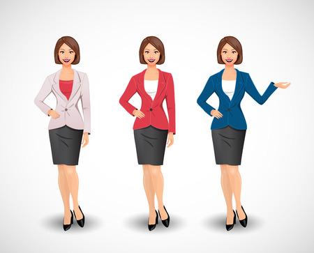 Illustration pour Businesswomen - woman as manager - image libre de droit