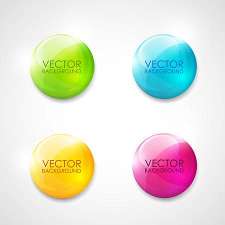 Illustration pour Colorful round vector labels - image libre de droit