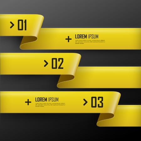 Illustration pour Vector bright yellow banners set - image libre de droit