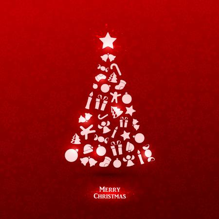 Illustration pour Bright vector christmas greeting card - image libre de droit