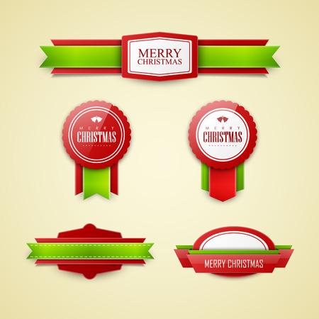 Illustration for Christmas labels set - Royalty Free Image