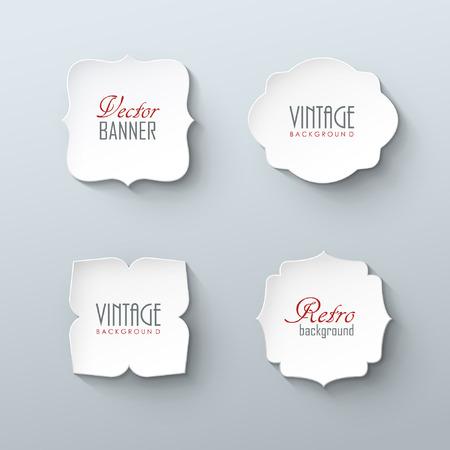 Illustration pour Set of paper labels in vintage style - image libre de droit