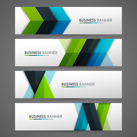 Illustration pour Set of banner templates. Bright modern abstract design. - image libre de droit