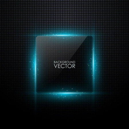 Illustration pour Abstract vector background with glowing light - image libre de droit
