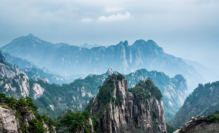 Photo for Nature landscape scenery view of Huangshan, China - Royalty Free Image