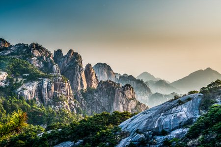 Photo for Mount Huangshan at Anhui, China. - Royalty Free Image
