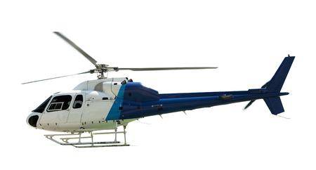 Foto de Flying helicopter, isolated on white - Imagen libre de derechos