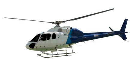 Foto de Travel helicopter with working propeller, isolated on white - Imagen libre de derechos
