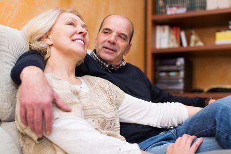 Portrait of joyful mature couple