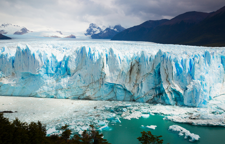 Photo for General view of the Perito Moreno Glacier in Los Glaciares National Park in Argentina - Royalty Free Image