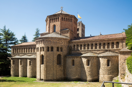 Photo for Benedictine Monastery of Santa Maria de Ripoll most significant Romanesque ensemble of Catalonia - Royalty Free Image