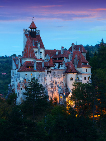 Photo for Mysterious Bran castle, also called Dracula's castle. Brasov, Romania - Royalty Free Image