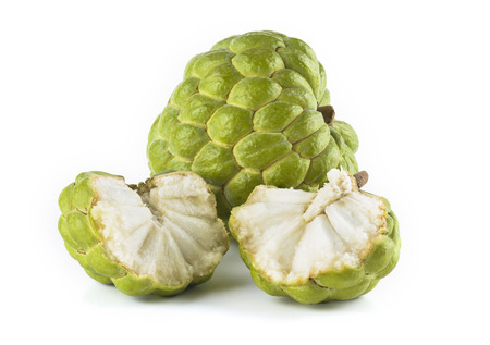 Photo for Ripe Sugar Apple fruit isolated on white background - Royalty Free Image