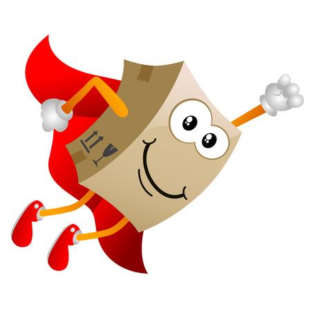 Illustration pour cardboard cartoon character  - image libre de droit