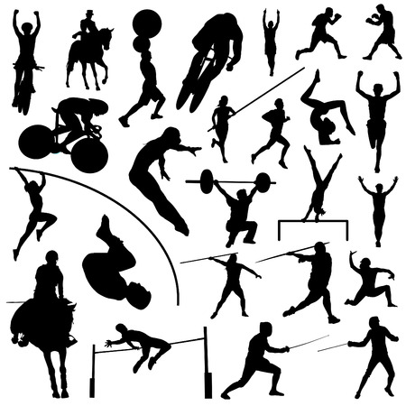 sports competition sport silhouettes