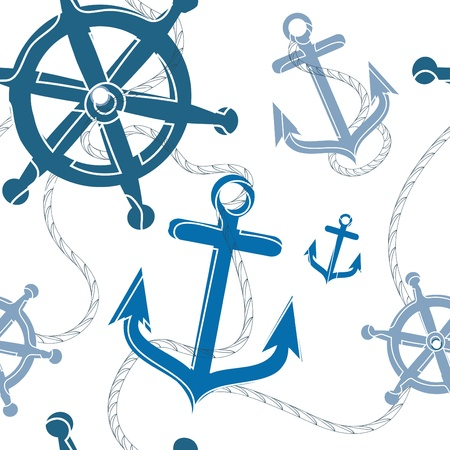 nautical seamless pattern  mural