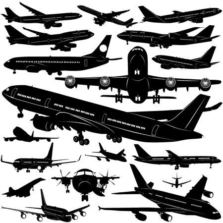 airplane collection vector (window detail)