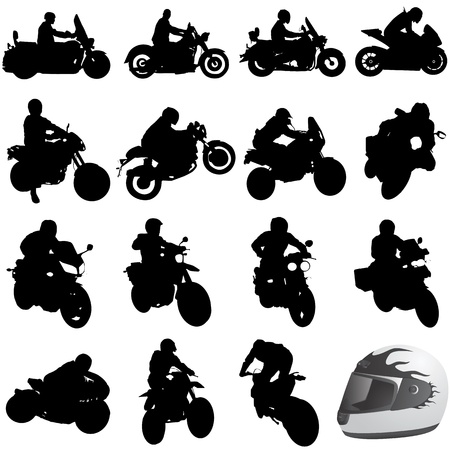 set of motorcycle