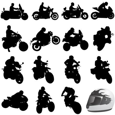set of motorcycle