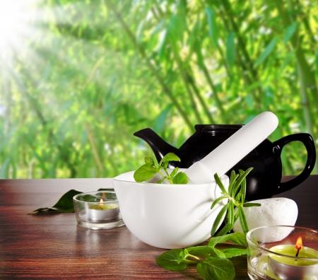 Photo pour Herbal Tea - image libre de droit