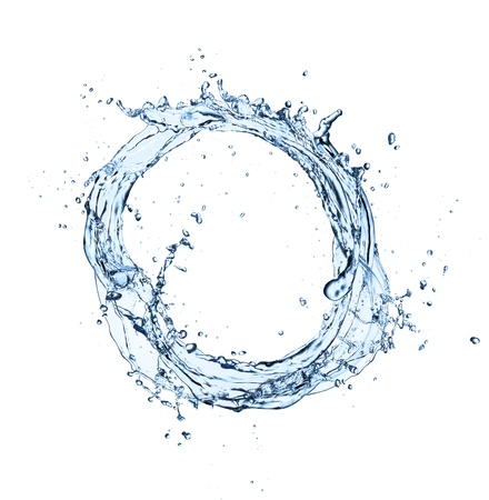 Photo pour Water circle isolated on white background - image libre de droit