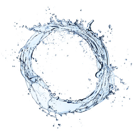 Photo pour Water splash circle, isolated on white background - image libre de droit