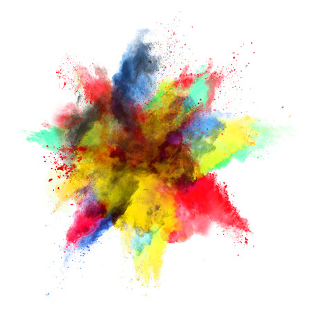 Photo pour Colored powder explosion - image libre de droit