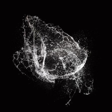 Photo pour Water splash isolated on black background - image libre de droit