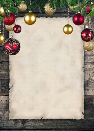 Photo pour Christmas celebration theme with blank paper for text - image libre de droit