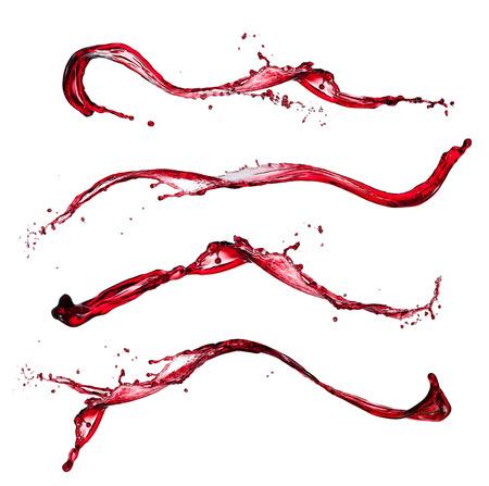 Photo pour Red wine splashes on white - image libre de droit