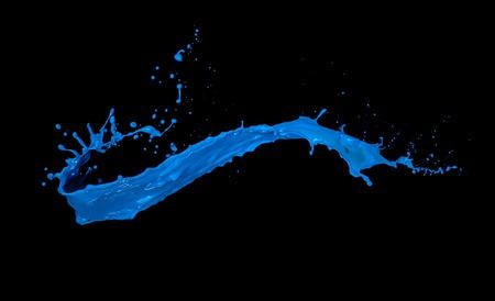 Photo pour blue paint splash isolated on black background - image libre de droit