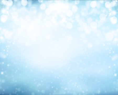 Photo for Abstract snowy blur winter background with spotlights - Royalty Free Image