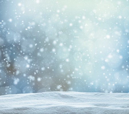 Photo for Winter snowy abstract background with pile of snow - Royalty Free Image
