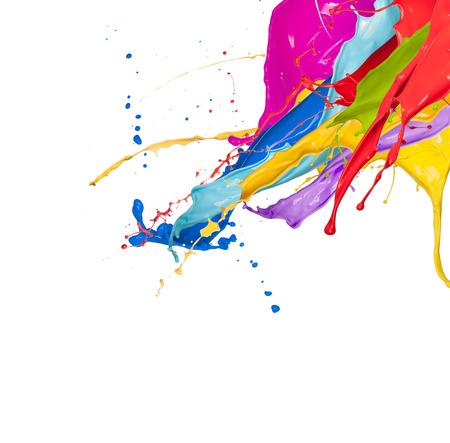 Foto de Abstract color splash isolated on white background - Imagen libre de derechos
