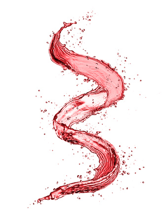 Photo pour Red wine abstract splash shape isolated on white background. - image libre de droit