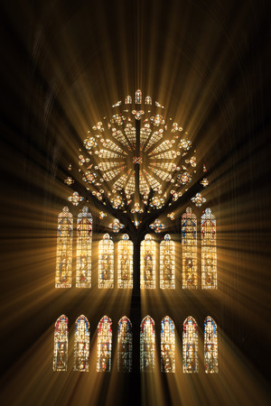 Photo for Stained glass in the cathedral of Metz - Royalty Free Image