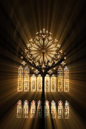 Foto de Stained glass in the cathedral of Metz - Imagen libre de derechos