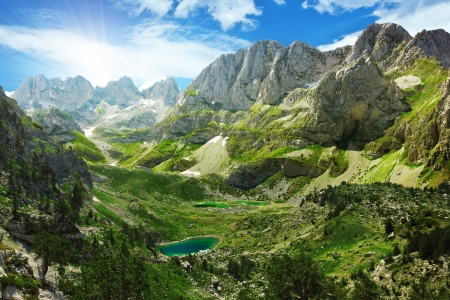 Photo for Amazing view of mountain lakes in Albanian Alps - Royalty Free Image