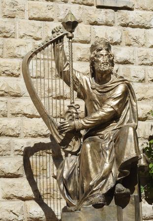 Foto de Statue of King David in Jerusalem - Imagen libre de derechos