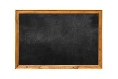 Photo pour Old wood chalk board isolate white background - image libre de droit