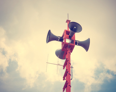 Photo for vintage horn speaker for public relations - Royalty Free Image