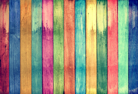 Photo pour vintage colorful wood background - image libre de droit