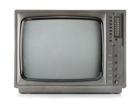 Foto de Vintage television isolate on white ,retro tecnology - Imagen libre de derechos