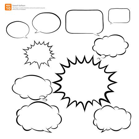 Illustration pour New vector speech balloon icon - image libre de droit
