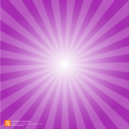 Illustration for New purple rising sun or sun ray,sun burst vector design - Royalty Free Image