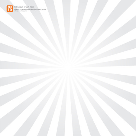 Illustration for New gray rising sun or sun ray,sun burst vector design - Royalty Free Image